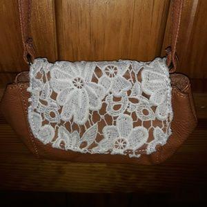 Carmelo Lace Small Crossbody Handbag